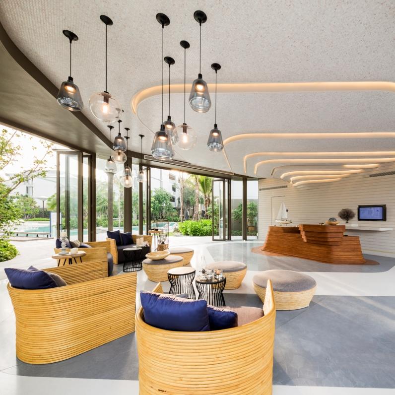 Baan San Kraam, Huahin, by Somdoon Architects & Sanitas Studio for Sansiri