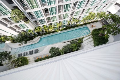The Base Downtown Phuket Condominium by Sansiri. Architecture and Landscape design by Open Box.