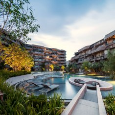 Baan San Ngam condominium. Landscape Architect » Shma. Architect » Somdoon Architects.