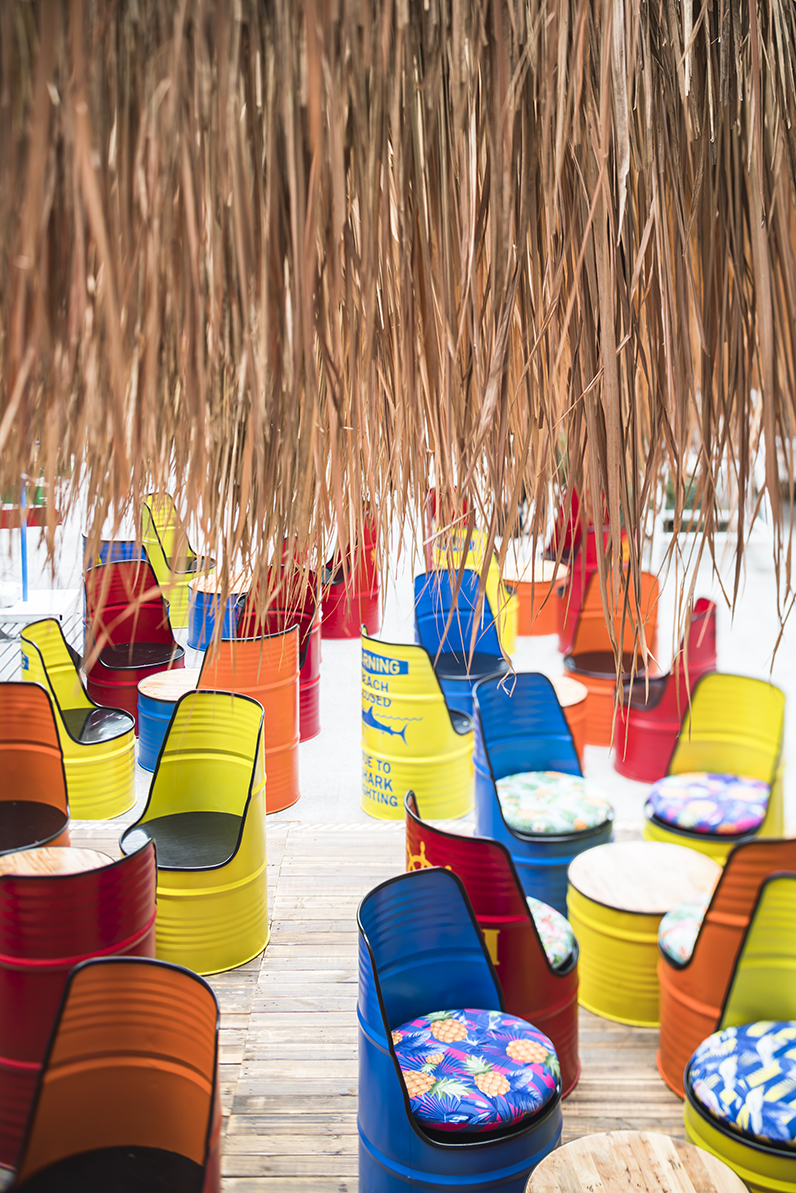The EM District World's Pop Up Beach Event