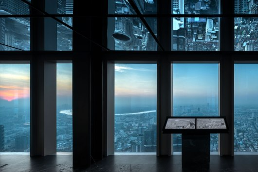 MahaNakhon Observation Deck Interior Design By b|u|g Studio